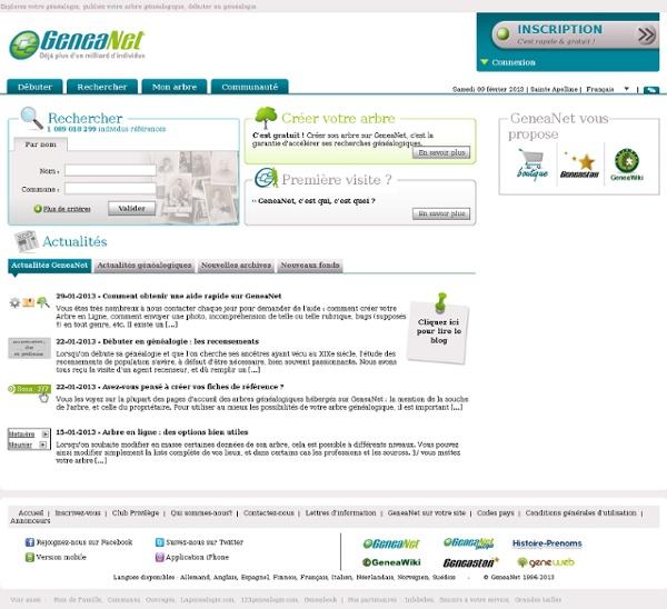 WWW.geneanet.org - multilingues