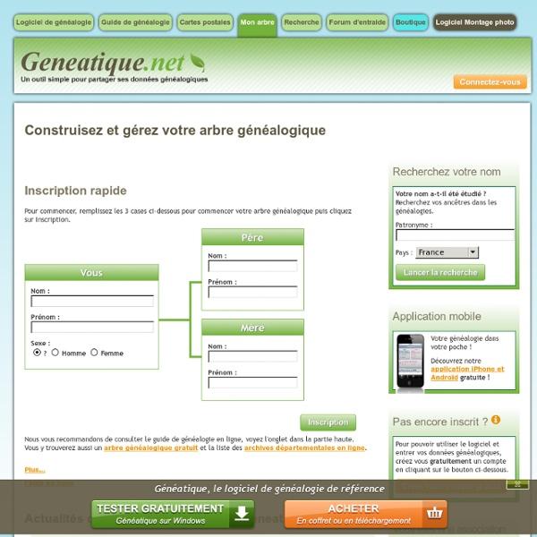 Arbre généalogique gratuit et en ligne - mes-arbres.net pour rechercher vos ancêtres