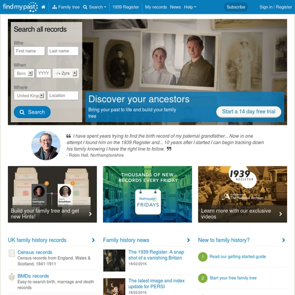 Research your family tree and family history today