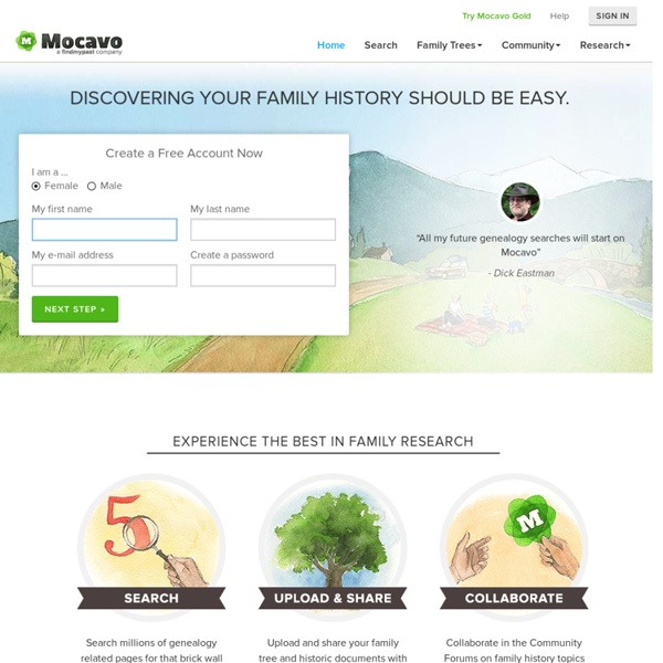 Mocavo - The Largest Free Genealogy & Family Tree Search Engine