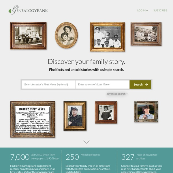 Genealogy Search & Family History Records