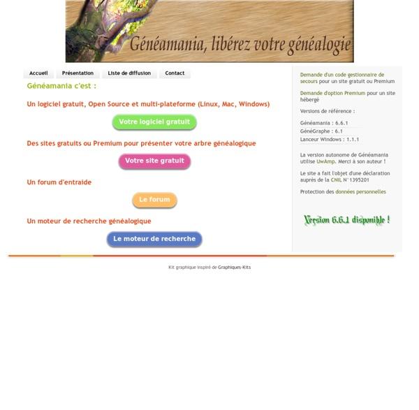 Généamania logiciel de généalogie gratuit