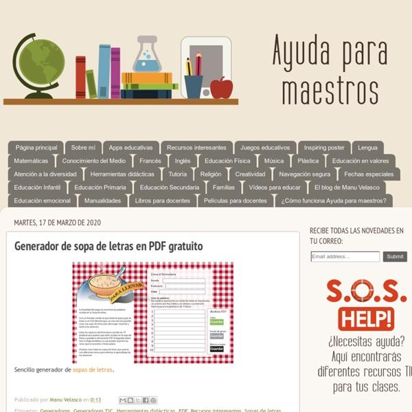 Generador de sopa de letras en PDF gratuito