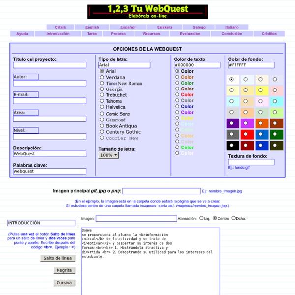 Generador 1,2,3 Tu Webquest - Aula Siglo XXI
