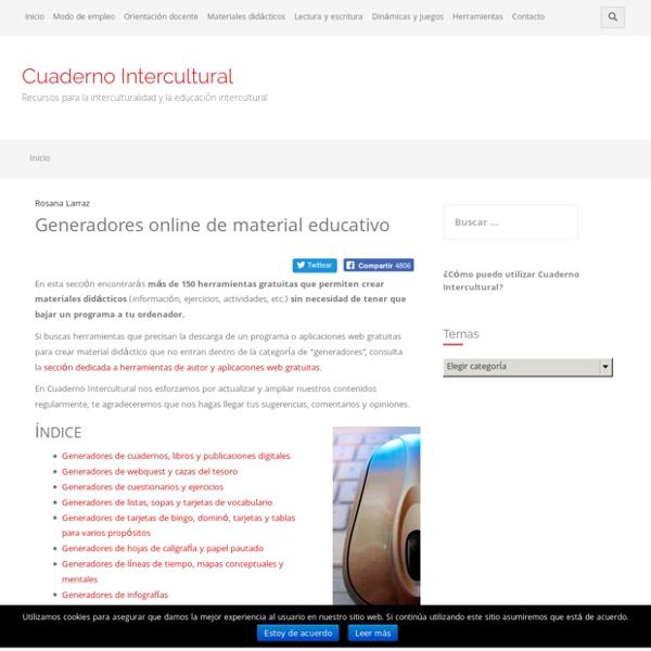 Generadores online de material educativo