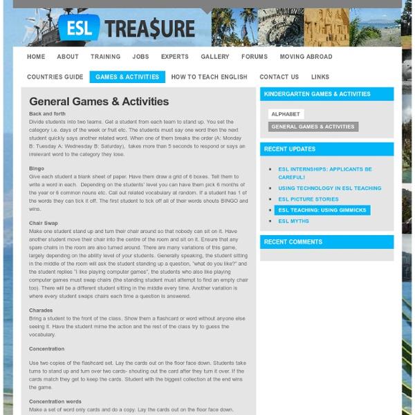 ESL TREASURE: Games & Activities