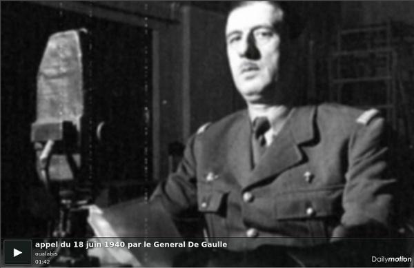 18 juin 1940 : Appel du Général De Gaulle