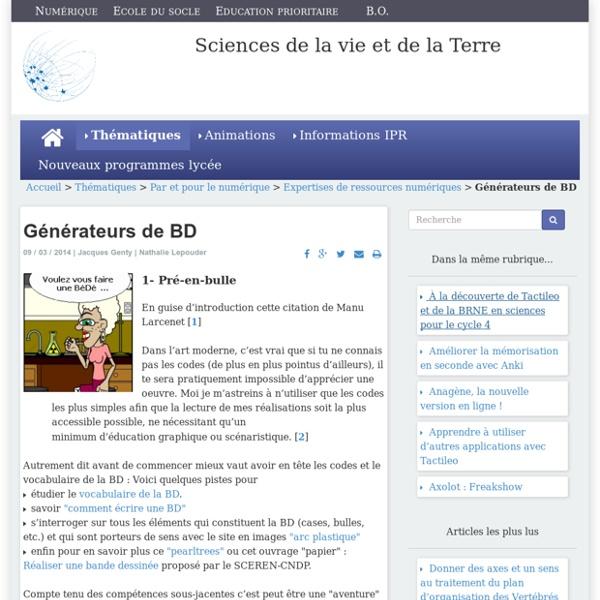 Générateurs de BD