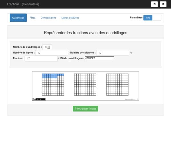 Outil pour le prof : Générateurs de fractions