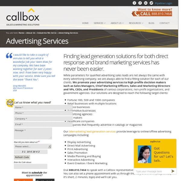 B2B Lead Generation for Advertising Services Providers