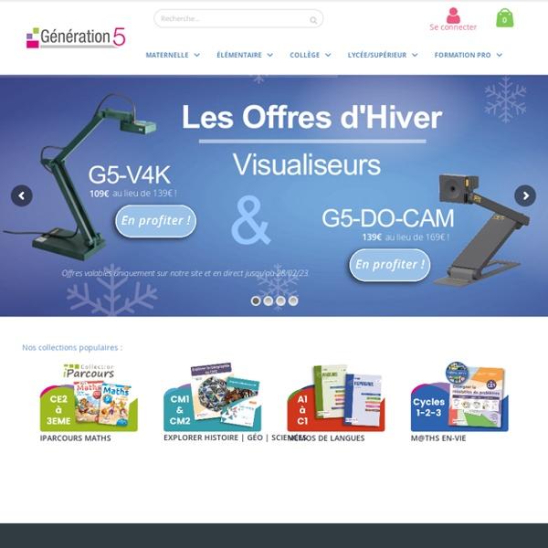 Génération 5 : ressources numériques éducatives pour l'enseignement