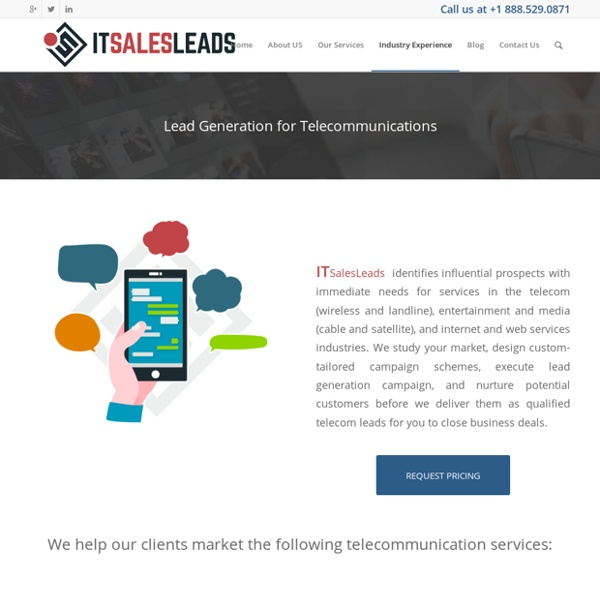 Lead Generation for Telecommunication Services