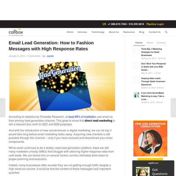 Email Lead Generation: How to Fashion Messages with High Response Rates