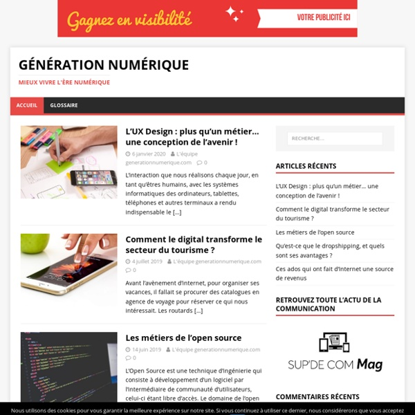 Génération Numérique - Mieux vivre l'ère numérique