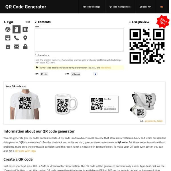 QR Code Generator - créer des codes QR en ligne [logo, t-shirt, vCard, carte de visite, sticker] - goQR.me