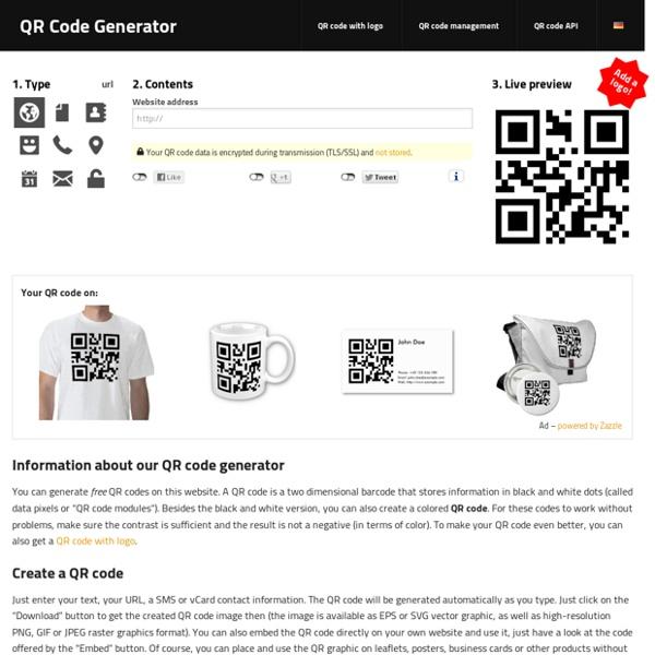 QR Code Generator – create QR codes for free (Logo, T-Shirt, vCard, EPS)