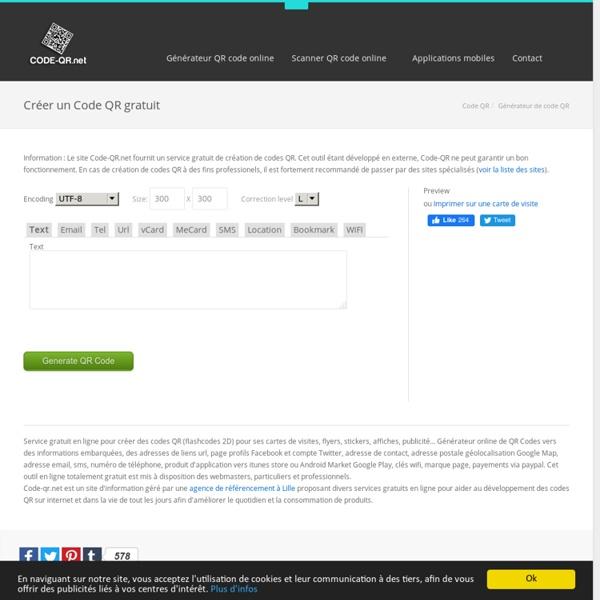 Générateur gratuit de Codes QR - Créer des codes QR en ligne gratuitement