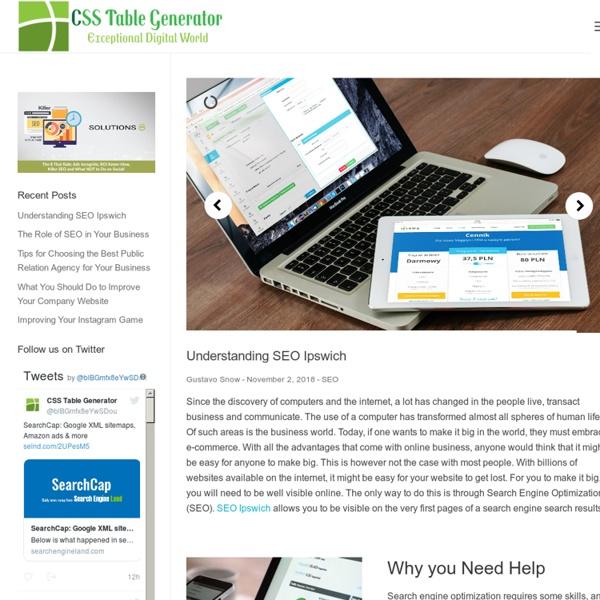 CSS Table Generator