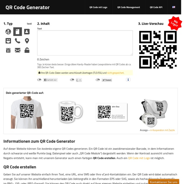 QR Code Generator – QR Codes kostenlos erstellen (Logo, T-Shirt, vCard, EPS)