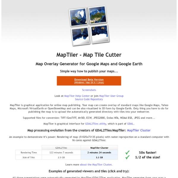 MapTiler - Map Tile Cutter