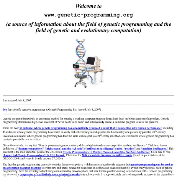 Genetic-programming.org-Home-Page