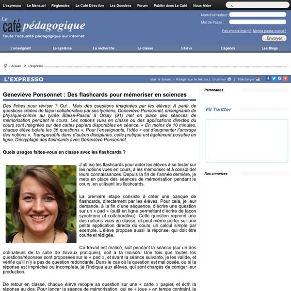 Geneviève Ponsonnet : Des flashcards pour mémoriser en sciences