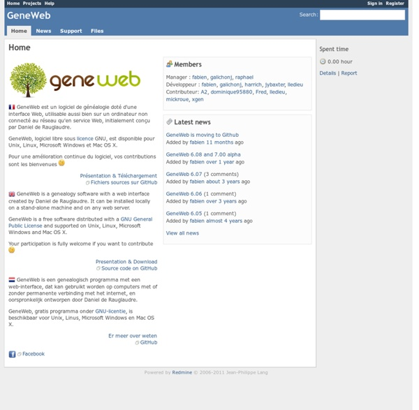 GeneWeb - Home - GeneaNet Open Source Forge