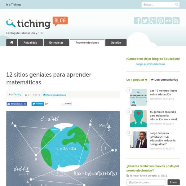 12 sitios geniales para aprender matemáticas