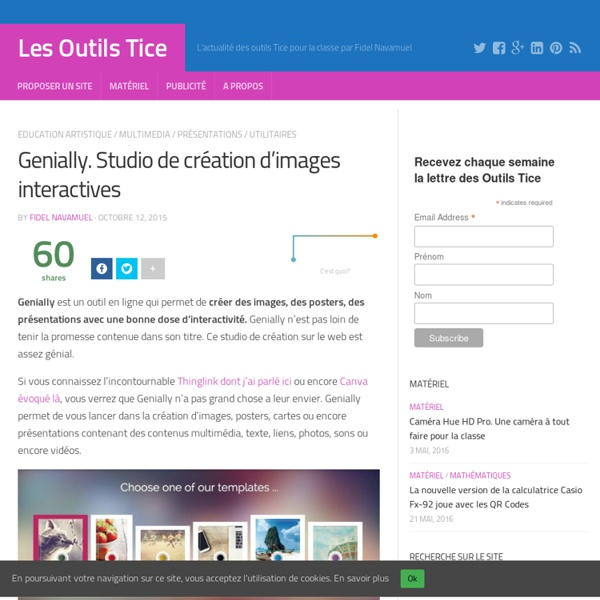 Genially. Studio de création d'images interactives