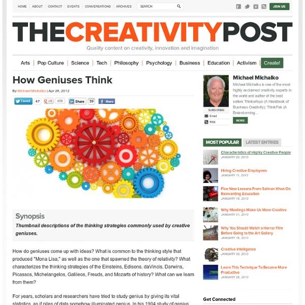 How Geniuses Think