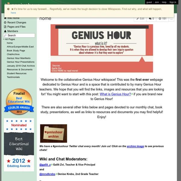 Geniushour - home