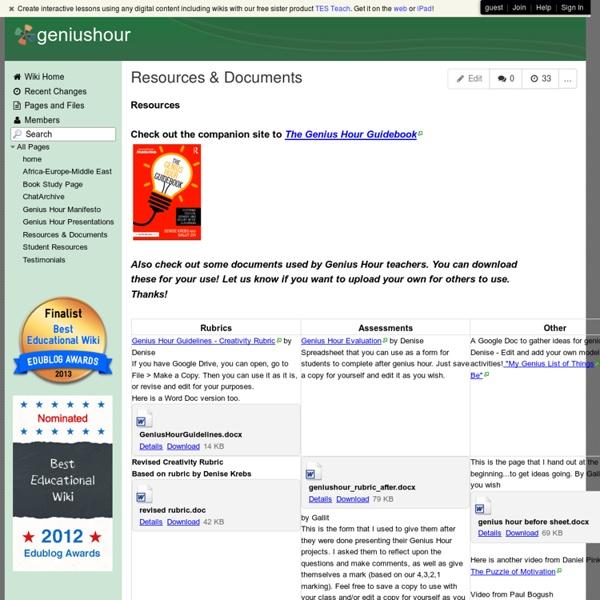 Geniushour - Resources & Documents