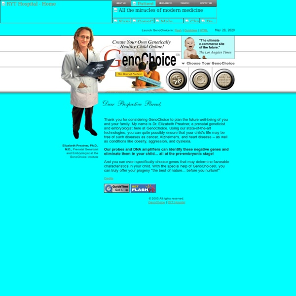 GENOCHOICE - Create Your Own Genetically Healthy Child Online!