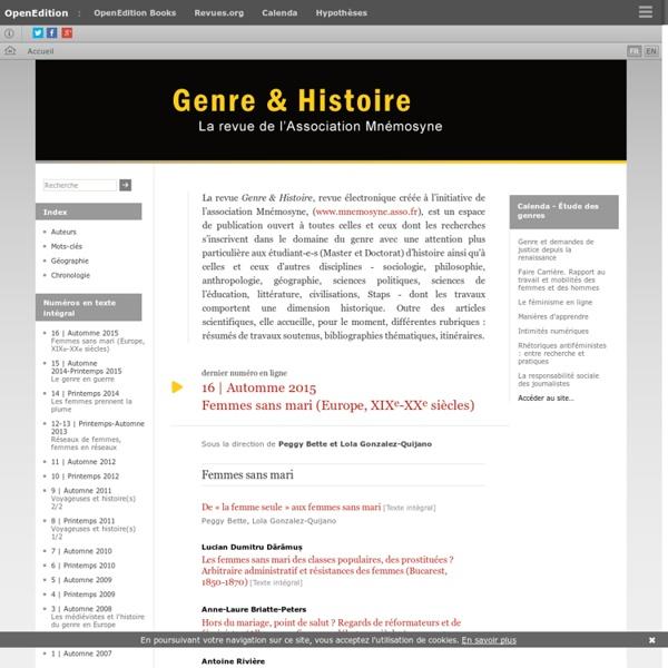 Genre & Histoire