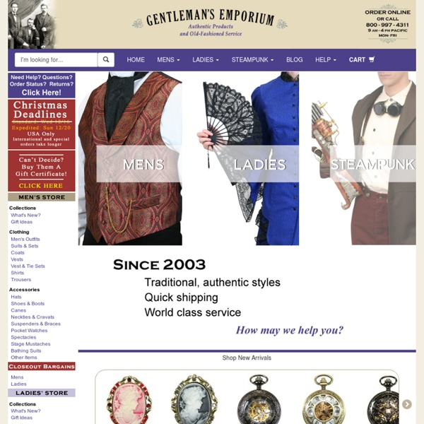 Victorian Clothing for Men and Women