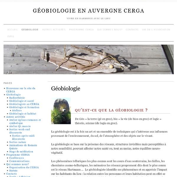 Géobiologie » Géobiologie en Auvergne CERGA