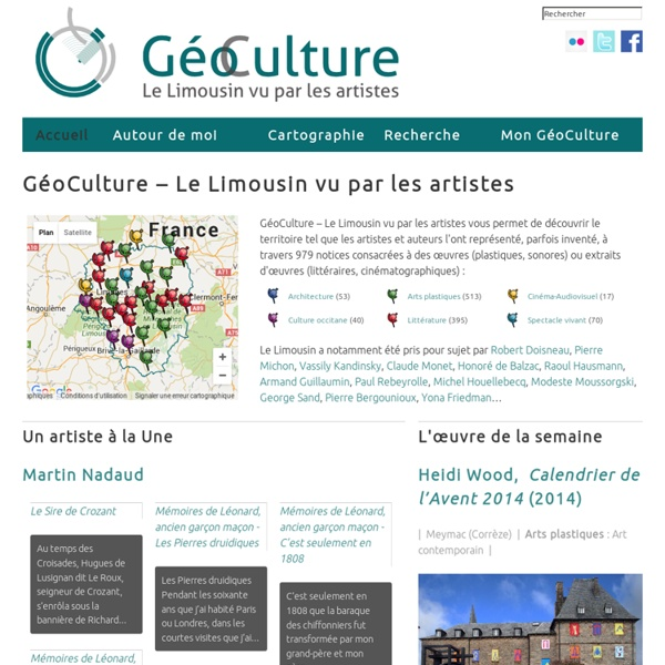 GéoCulture, le Limousin vu par les artistes