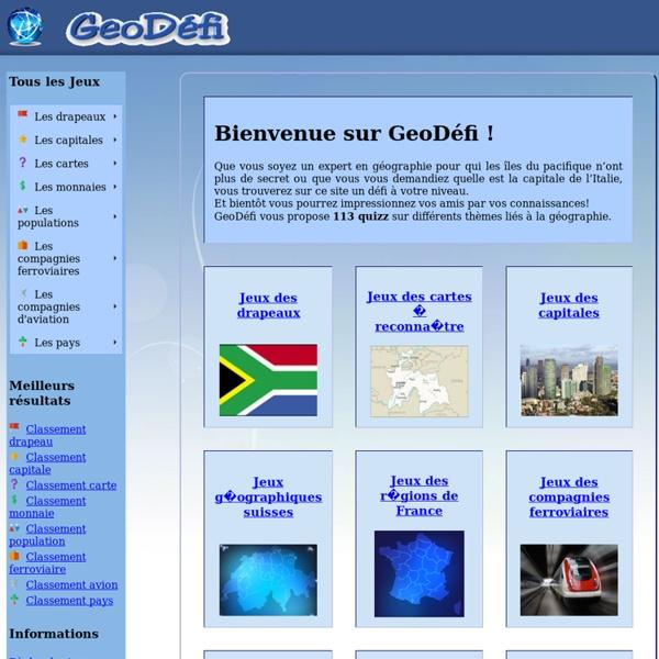 GeoDéfi : jeux de géographie