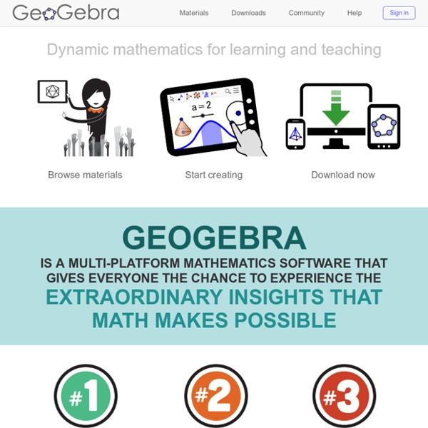 GeoGebra : site officiel