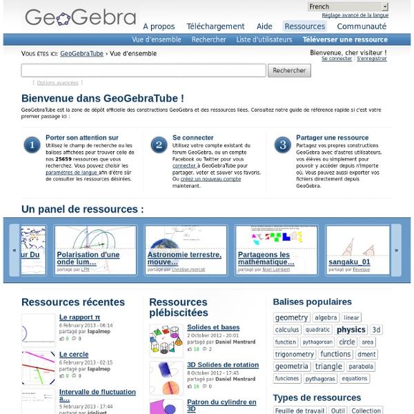 GeoGebraTube