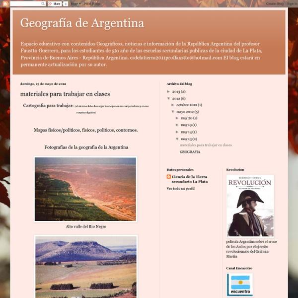Geografía de Argentina: materiales para trabajar en clases