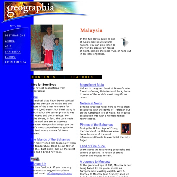 Geographia - World Travel Destinations, Culture and History Guide