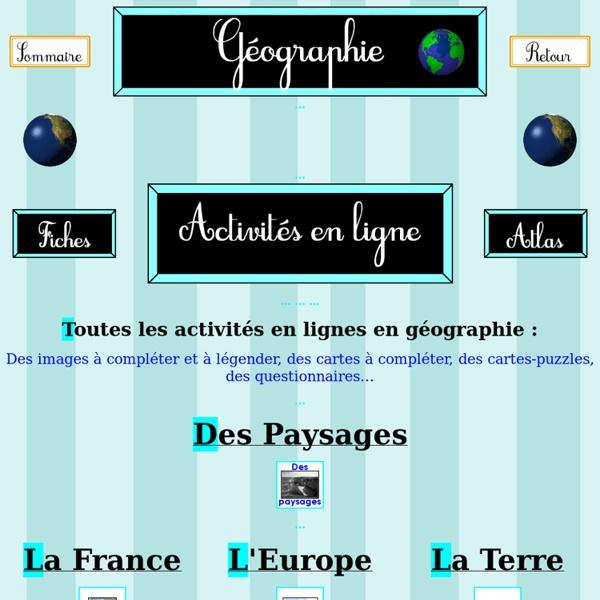 Géographie - Activités en lignes