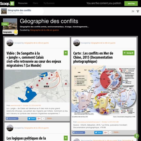 Géographie des conflits