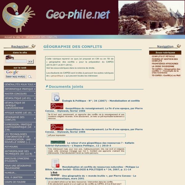 GÉOGRAPHIE DES CONFLITS - geo-phile.net