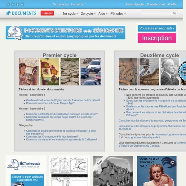 Des tâches et documents historiques pour apprendre l'histoire du Québec