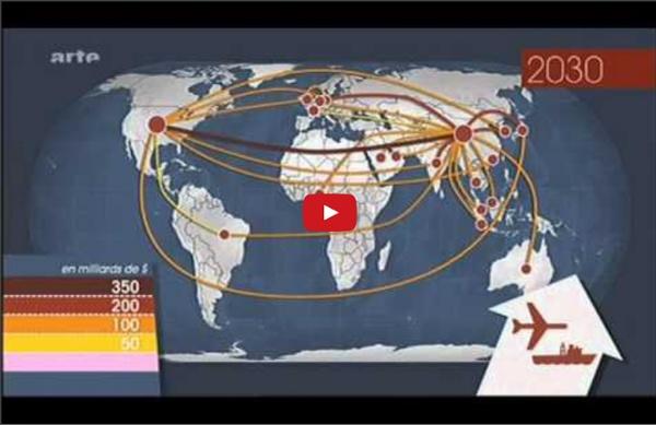 13 03 2012 Arte Le dessous des cartes Géographie des transports mondiaux