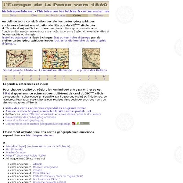 Carte geographique ancienne France / Europe / Monde - l'histoire par les cartes geographiques anciennes - carte geographique ancienne et vieil atlas temoins detailles de l'histoire et de la geographie vers 1860