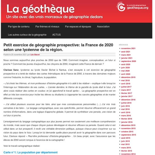 La Géothèque - La curiosité géographiqueLa Géothèque