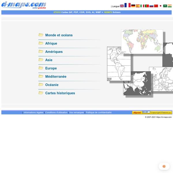 Cartes géographiques gratuites, cartes muettes gratuites, cartes vierges gratuites, fonds de cartes gratuits